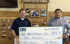 DRI Foundation Donates $3000 To Nepal Water Relief
