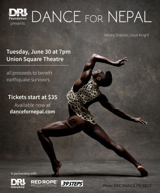 Dance for Nepal with Partner Logos