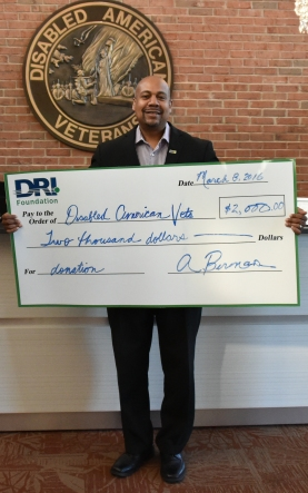 Chief Development Officer, Brian Cowart and the DRI Foundation check