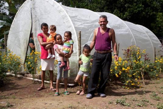 Greenhouse user, Nicaragua