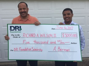 Congratulations to 2017's DRI Foundation High School Senior Scholarship Winner!