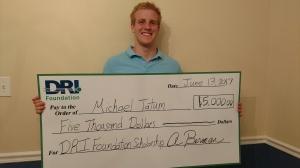 DRI Foundation - Undergrad scholarship winner pic